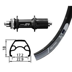 Rodi M460 HR 26x1.9 32L Disc mit Deore XT Centerlock schwarz